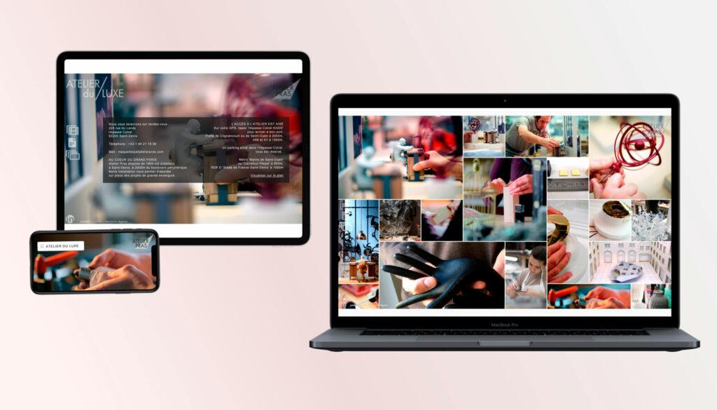 Responsive Website Atelier du Luxe ©Stéphanie Boisset