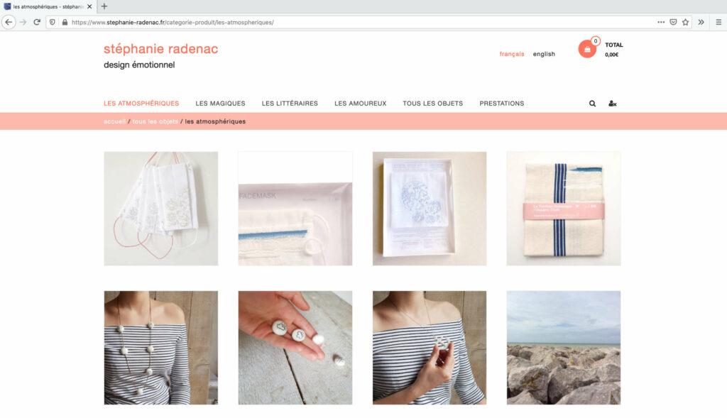 Poetisches Design auf der Website Stéphanie Radenac zu kaufen