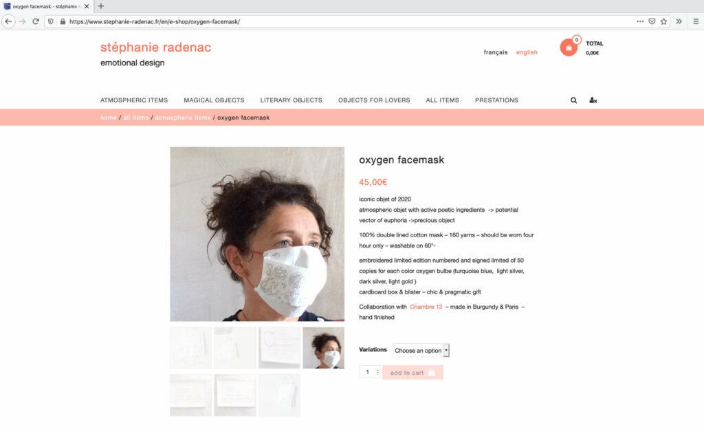 Oxygen facemask von Stéphanie Radenac und Chambre 12