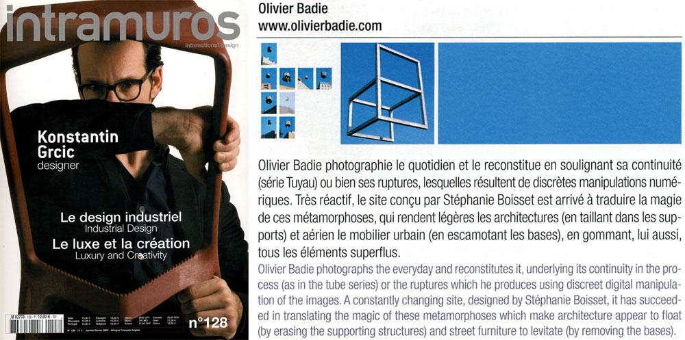 intramuros - Artikel Olivier Badie