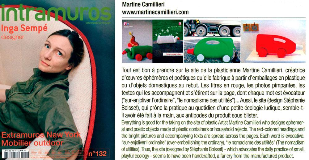 intramuros - Artikel Martine Camillieri