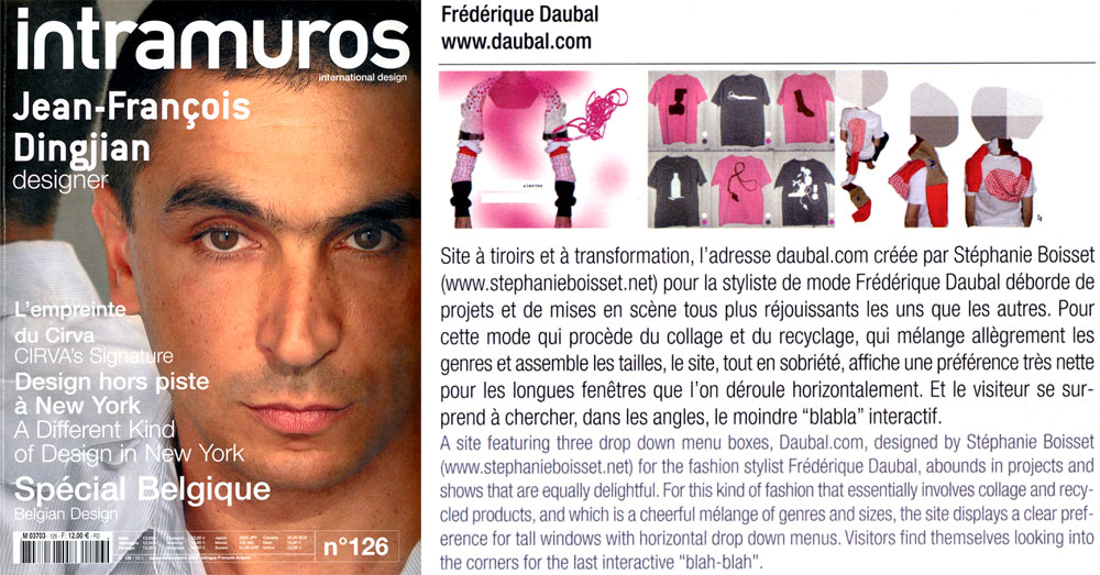 intramuros - Artikel Frédérique Daubal