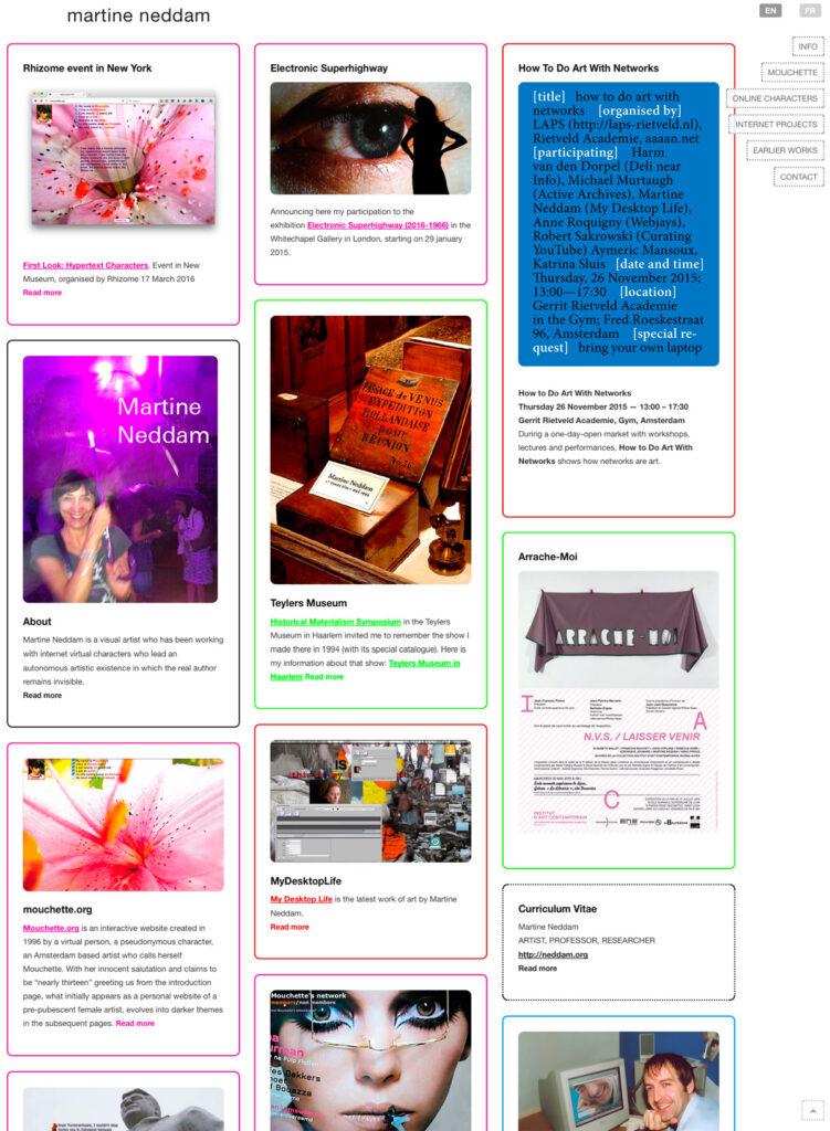 Website Martine Neddam
