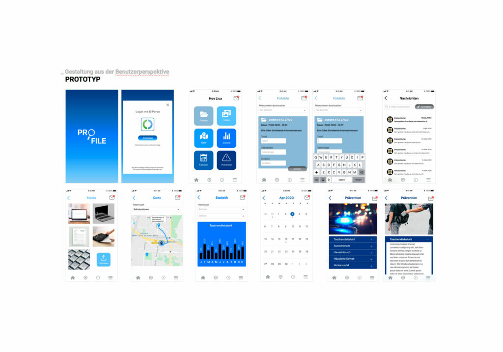 Präsentation UX/UI Prototyp