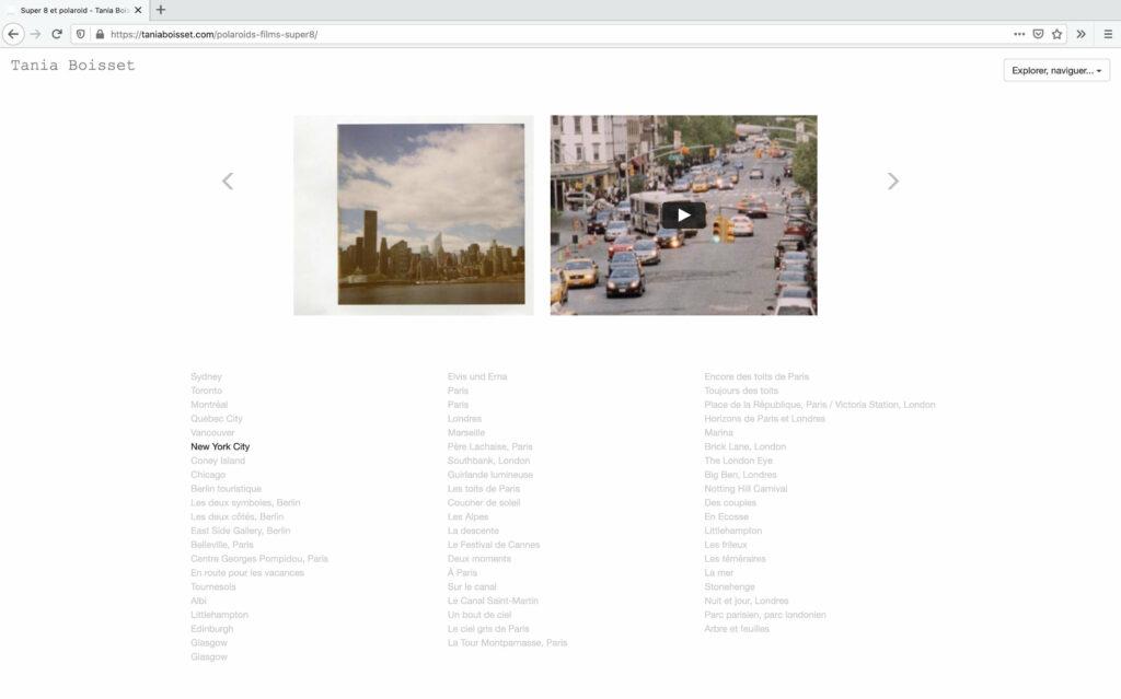 Polaroid und Super8 Fiml ©Tania Boisset