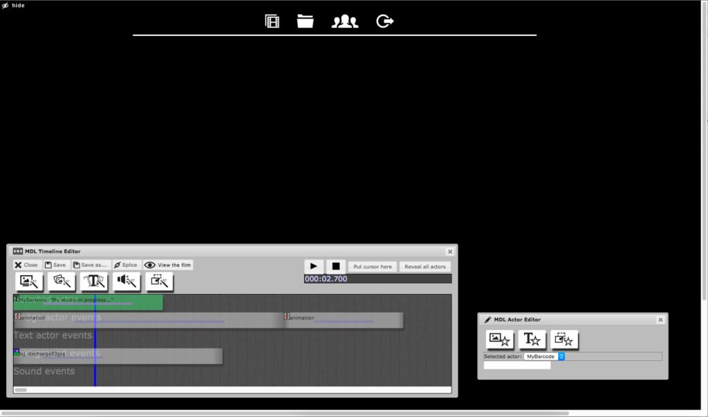 Timeline vom Interface MyDesktopLife
