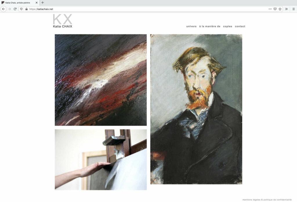 Index-Seite der Website von Katia Chaix