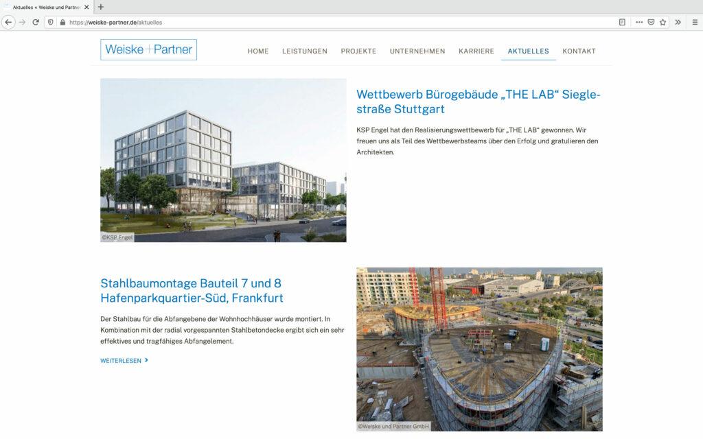 Aktuelles Weiske und Partner GmbH - Beratende Ingenieure VBI
