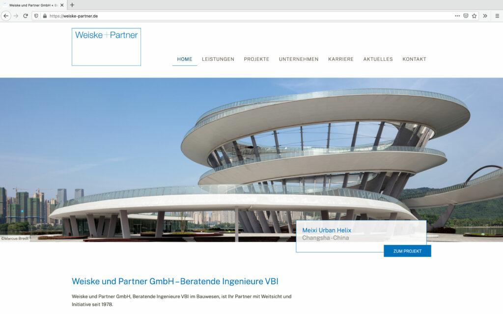 Index-Seite Weiske und Partner GmbH - Beratende Ingenieure VBI