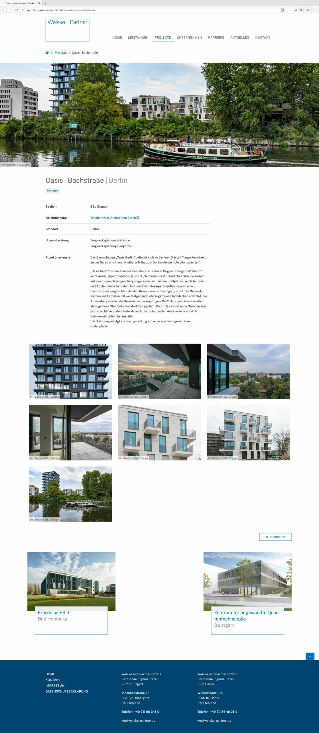 Projekt Oasis-Bachstraße Berlin von Weiske und Partner GmbH - Beratende Ingenieure VBI