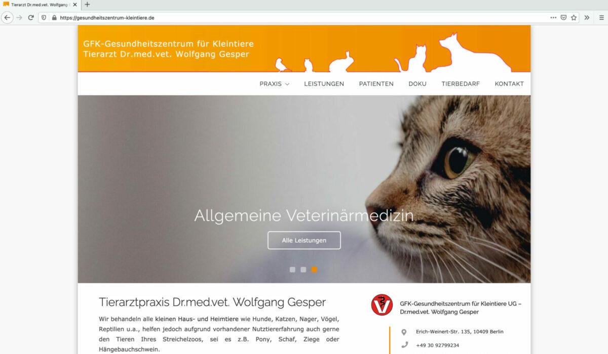 Tierarztpraxis Index Seite