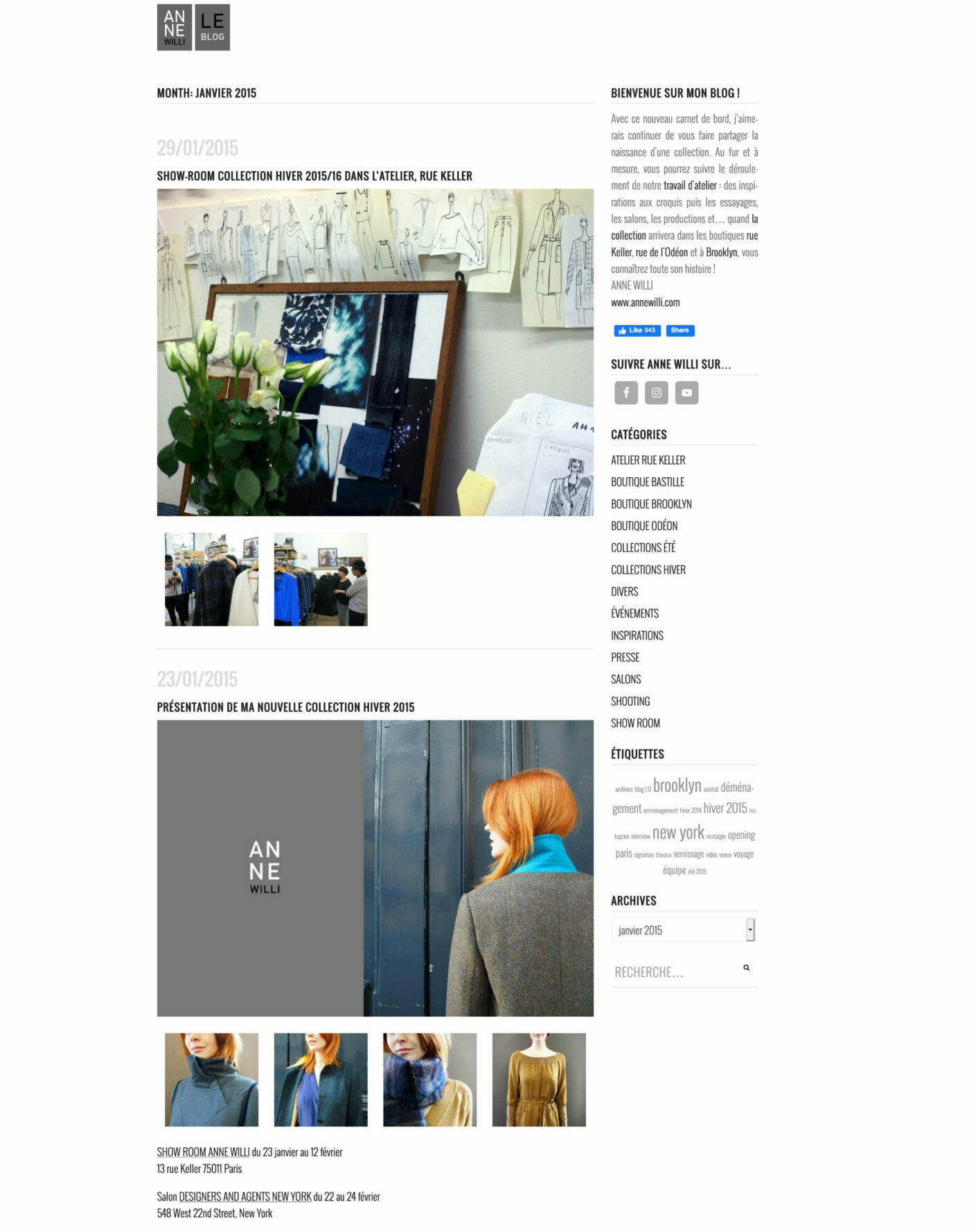 Screenshot Blog Anne Willi