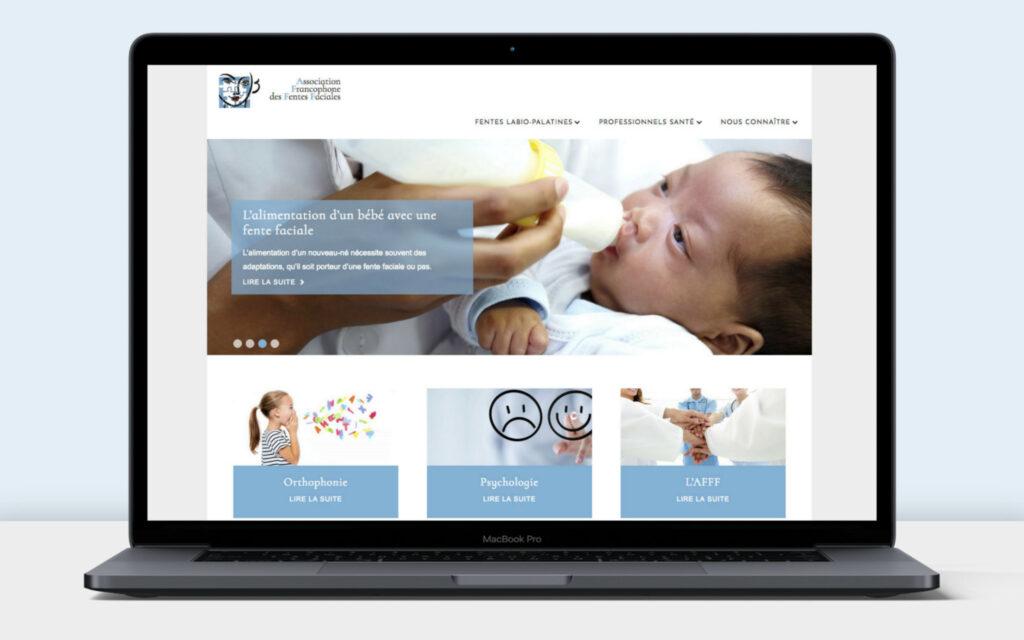Website AFFF auf einem Laptop