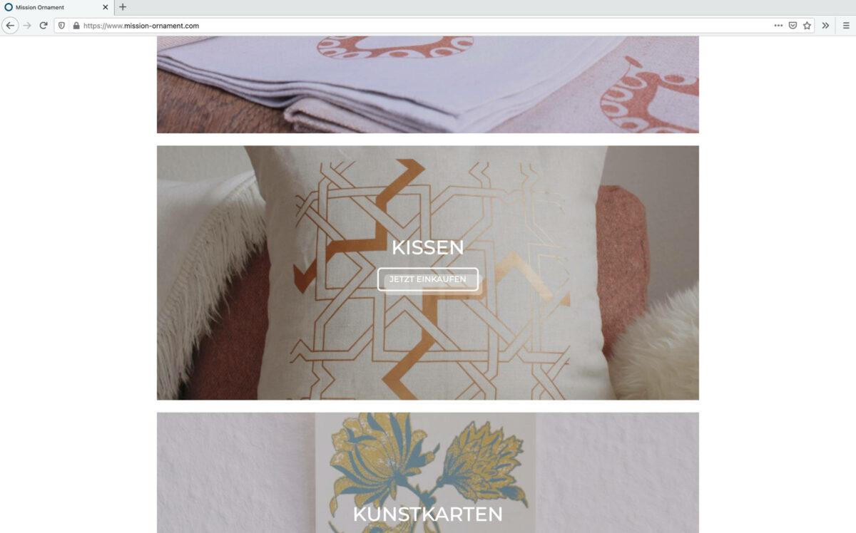 Screenshot mission-ornament.com - Webdesign ©Stéphanie Boisset
